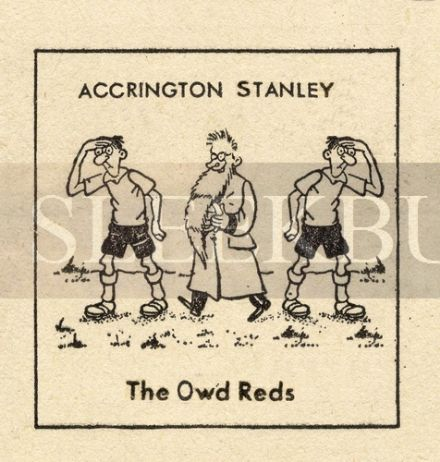 VINTAGE Football Print ACCRINGTON STANLEY - THE OWD REDS, Funny Cartoon
